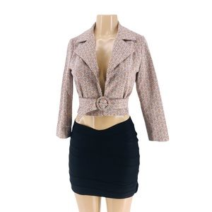 1970's Vintage Hand Made Cropped Jacket with Belt